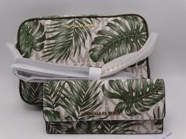 Michael Kors Signature Jet Set Crossbody With Wallet VANILLA/OLIVE New - $183.15