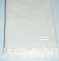 Sferra Terzo Silversage Brushed 1005 Cotton Throw Blanket New - $72.90