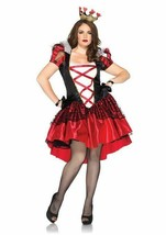 Leg Avenue Plus Size Royal Red Queen Adult Womens Halloween Costume 86166X - $39.84