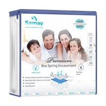 Samay - Zippered Waterproof & Bed Bug Proof Box Spring Encasement Cover - Twin S image 3