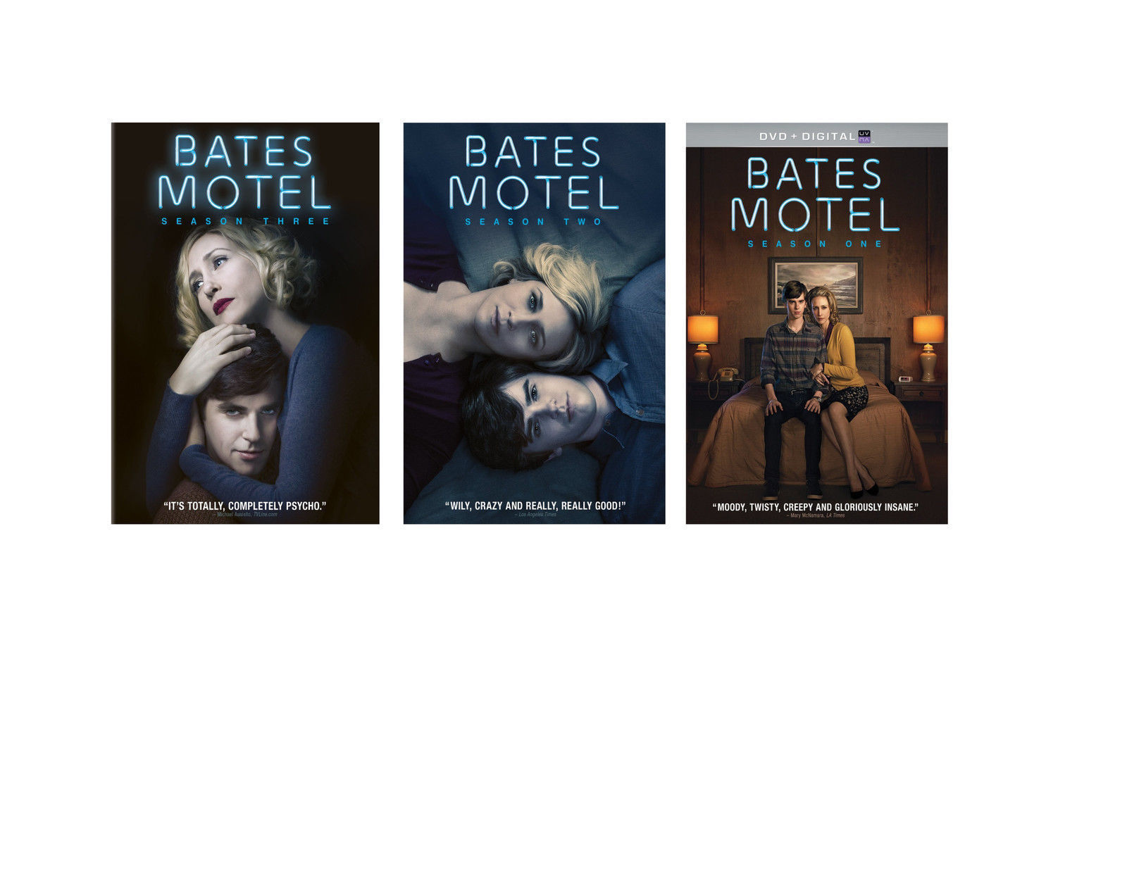 BATES MOTEL Complete Series First Second Third Season 1 2 3 DVD Set TV Show Vera
