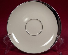 2 PICKARD CRESCENT IVORY COFFEE CUP SAUCERS only PLATINUM 1123 LOT - $8.41