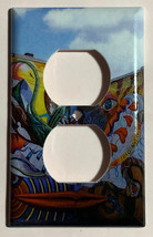 Street Art Wall Painting Mouth Light Switch Outlet Wall Cover Plate Home decor image 2