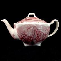 Johnson Bros Old Britain Castles Farnham Castle Transferware Teapot tea pot - $187.16