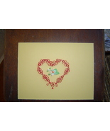 Paper Quill Heart and Flower Handcrafted  New Ready to Frame - $19.99