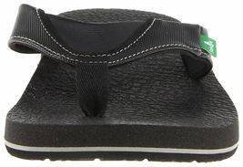 NEW Sanuk Men's Black Beer Cozy Thong Flip-Flop Beach Sandals Slippers 1174140 image 3