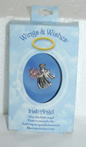 DM Merchandising Wings Wishes Silver Colored Irish Angel Bronze Colored