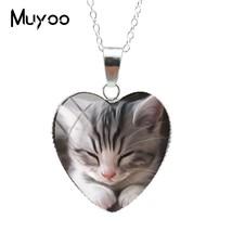 2019 New Lovely Cute Kitten Baby Little Cats Sweet Patterns Heart Pendan... - $8.02