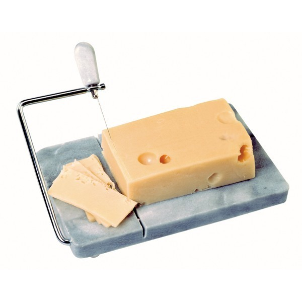 Marble Cheese Slicer,Danish Adjustable Cheese Board with Slicer,Marble Gray