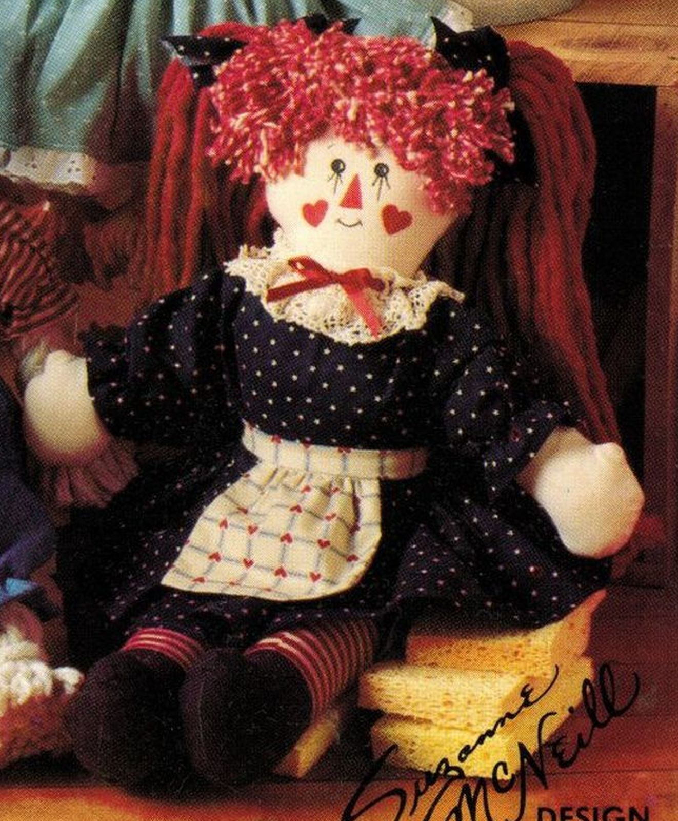 "18"" 20"" My Mop Magic Raggedy Ann Frog Dog Rabbit Doll Sew Patterns & Storybook"