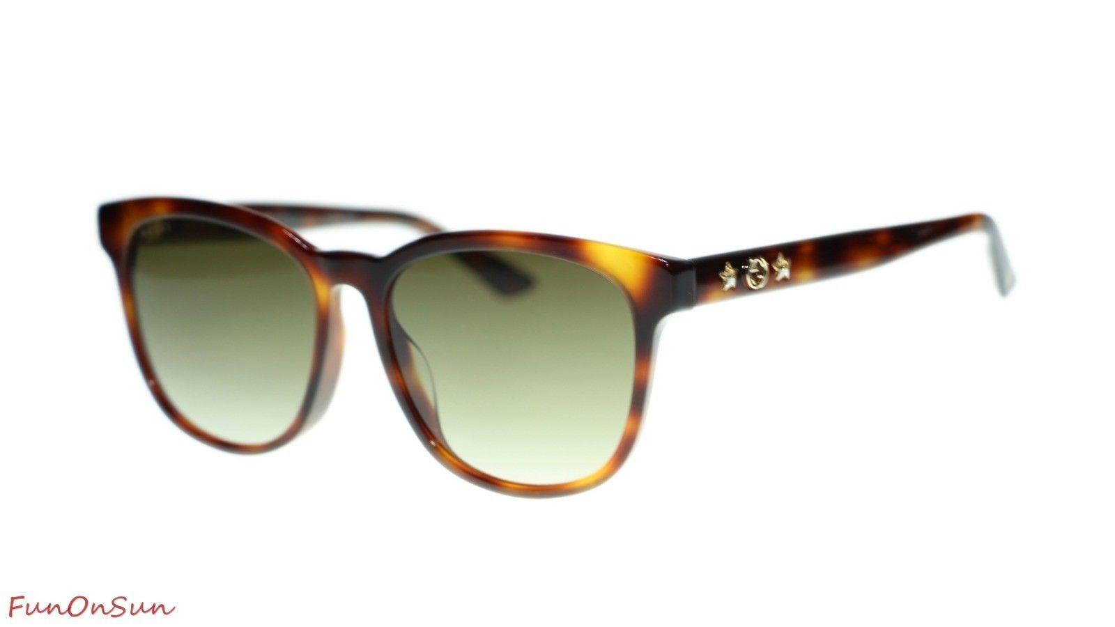 b3d411bf85 10. 10. Previous. Gucci Women s Sunglasses GG0232SK 003 Havana Brown  Gradient Lens Oval 56mm. Gucci ...