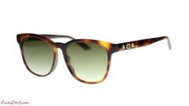 Gucci Women's Sunglasses GG0232SK 003 Havana/Brown Gradient Lens Oval 56mm - $232.80