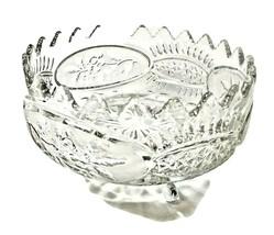 Heavy Lead Crystal Cut Glass Bowl C126 - $19.80
