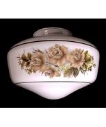 White Glass Floral Schoolhouse Light Shade Ceiling Fan Flush Mount Penda... - $13.95