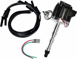 Cadillac HEI Distributor 368 425 472 500 V8 8.0mm Spark Plug Kit image 1