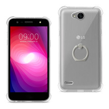 Reiko LG X Power 2 Transparent Air Cushion Protector Bumper Case With Ri... - $11.68