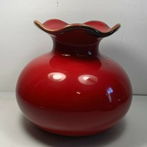 "Southern Living at Home Cinnabar Vase #40863 Made in Portugal 6 1/2"" Tal... - $24.74"