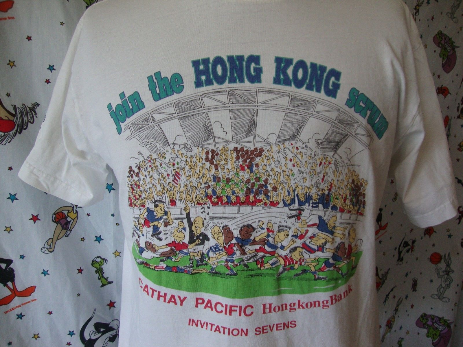 Primary image for Reebok Sevens T Shirt Sz L Vintage 1994 Rugby Hong Kong 90's