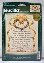 Paul to the Corinthians Bible Verse Love is Patient Bucilla Cross Stitch... - $23.70