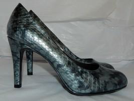 Liz Claiborne Flex Gray snake impressed Pumps Heels Shoes WOMENS  Size 7.5 - $9.89