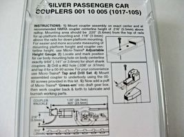 Micro-Trains Stock #00110005 Silver Passenger Car Couplers for 1017 & 1018 Truck image 3