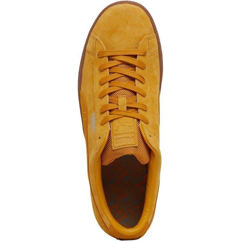 Puma  Mens Basket Classic Weatherproof Mustard