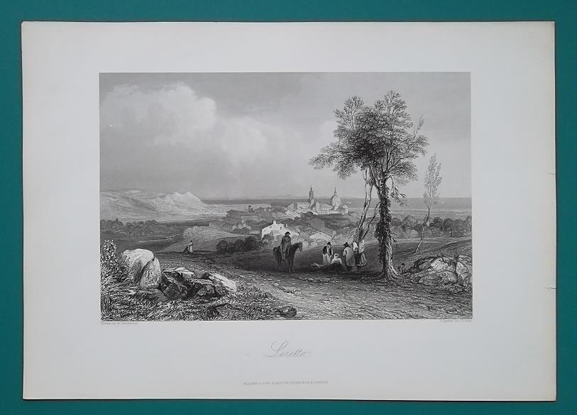 ITALY Loretto - 1864 Fine Quality Print Engraving