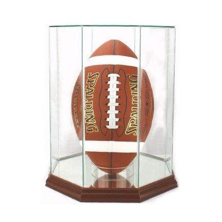 Perfect Cases Glass Football Upright Display Case with Mirror
