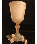 Vintage Pink Satin Compote/Vase/Candle Holder Indiana Glass - $29.69