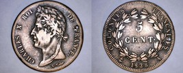 1828-A French Colonies 5 Centimes World Coin - Holed - $29.99