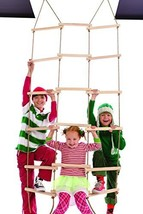 """Triple-Wide Climbing Rope Ladder, Maple-wood - Natural Wood- 6'H x 36""""W - $56.43"""