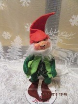 "Annalee Dolls 1992 7"" Christmas Gnome Excellent Condition Tush Tag Only - $14.99"