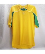 Nike Large Dri Fit Men's blank Soccer Jersey Shirt Green and Yellow Whit... - $11.87
