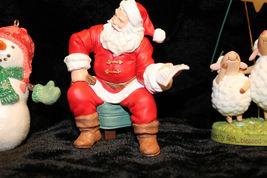 Hallmark Christmas Tree Ornament Santa snowman Raggedy Ann Andy lot of 6 image 6