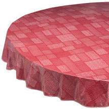 Patchwork Vinyl Tablecover by Home-Style Kitchen-70-BrickRed - $14.59