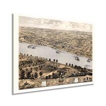 1869 Jefferson City Missouri Map - Vintage Jefferson City Wall Art - Old Jeffers - $34.99+