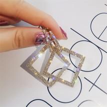 FYUAN Shining Rhinestone Geometric Drop Earrings for Women Girls 2019 Ne... - $11.90