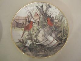 CARDINAL collector plate CECIL EAKINS The Old Wooden Bucket BIRD Songbird - $24.95