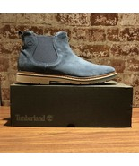 NIB Timberland Men's Naples Trail Chelsea Boot Nvy Blue Graphite TB0A1ON... - $125.10