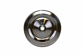 55-72 GM Chevy Power Steering Pump Pulley Steel Key-Way Saginaw Pump. Chrome image 5