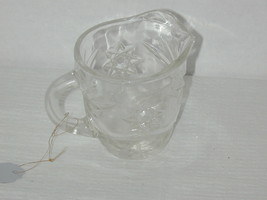 Pressed Glass Milk Pitcher clear - $16.82