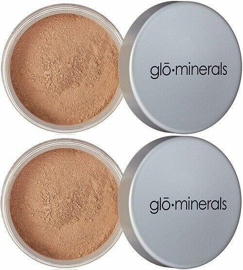 2 x GloMinerals Loose Base Powder Foundation 10.5 g Beige Dark New in Box LOT - $17.99
