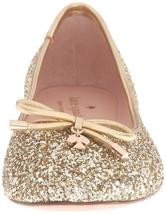 New Kate Spade New York Women's Willa Ballet Loafer Flats Shoes Gold Glitter image 6