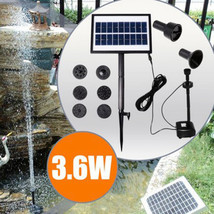 9V 3.6W Solar Power DC Brushless Water Pump Garden Landscape Fountain Wi... - $116.40
