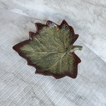 "Ceramic Grape Leaf Dish, 7"", Pottery Spoon Rest, Bowl, Teabag Holder, Soap Dish image 7"