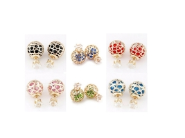 Double Sided Pearls Hollow Stud Earrings - $4.99