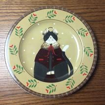 """8 1/4"""" SAKURA Cozy Cats Fiddlestix Salad Dessert Plate Winter Cat Earmuffs - $9.49"""