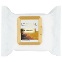 L'Oreal Cleansing Wipes x 25 Age Perfect Smoothing Anti Fatigue Calcium ... - $10.84