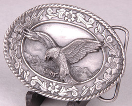 SISKIYOU Belt Buckle-Soaring Eagle-Pewter-USA-1985-SW-2-Williams Oregon ... - $23.36