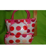 3 PIECE NEW POLKA DOT Travel Cosmetic Makeup Bag PURSE HANDBAG - $14.84